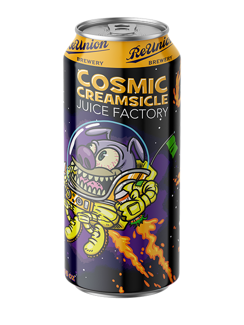 Cosmic Creamsicle Juice Factory IPA with orange and vanilla taste
