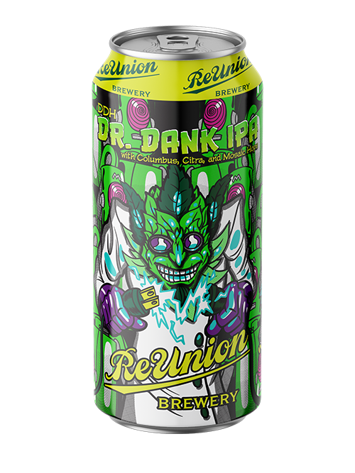Beer Can Dr Dank DDH Hazy IPA from ReUnion Brewery