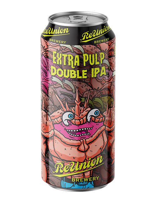 ReUnion Brewery in Iowa City Extra Pulp Double IPA Beer Can